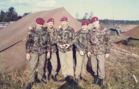 Men of 144 Para Field Ambulance, Nottingham Detachment, at camp area, Denmark, September 1984