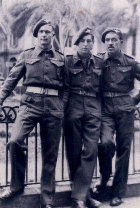 Men of 1st Independent Parachute platoon relax