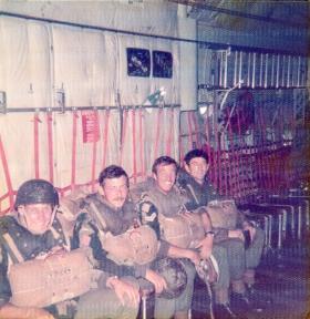 Men of Para Sqn RAC await their jump onto the Isle of Skye, mid 1970s