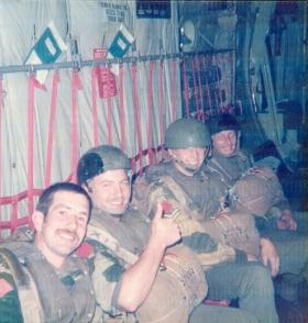 Men of Para Sqn RAC onboard for a jump onto the Isle of Skye, mid 1970s