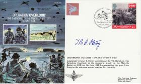 Merville Battery Commemorative Cover signed by Lt Col Otway
