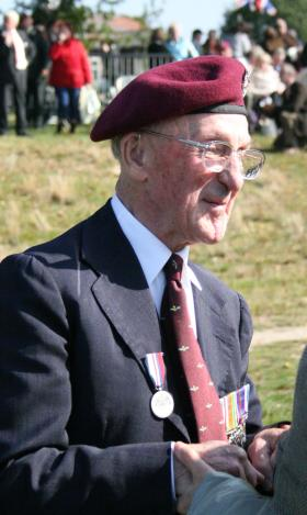 Brig Mike Dauncey at a commemorative event