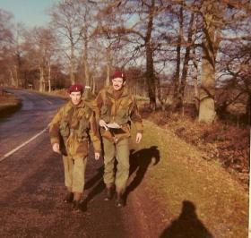 Micky Harris and Mike Harrison, of 10 PARA on a pre P-Coy map reading exercise, 1969