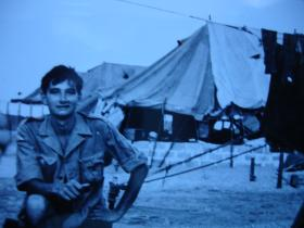 Support company lines, Radfan Camp, Aden, 1967