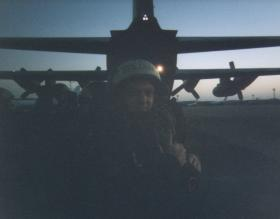 Ready for our first Parachute descent in the early morning from a C130