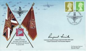 Presentation of New Colours Commemorative Cover signed by Rupert Smith, 1998.