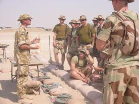 SSgt 'Geordie' Armstrong instructing Norwegian troops of the Viking Division in Iraq, April 2003