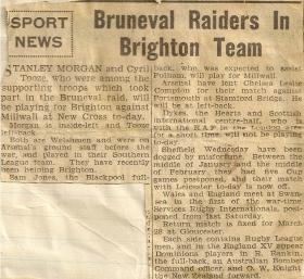 Newspaper article -Bruneval
