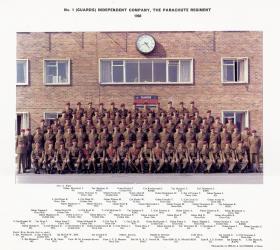 Group portrait of No 1 (Guards) Company, The Parachute Regiment, 1966