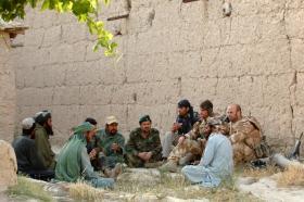 Non Kinetic Effects Team meets local elders in Zabul, June 2008