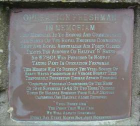Memorial to Op Freshman at RAF Skitten