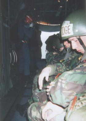 RAF PJI's prepare to freefall onto Weston on the Green, ready to check our arrival onto the DZ