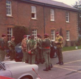 Men of Para Squadron RAC at Old Sarum, mid 1970s