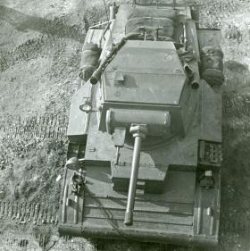 Overhead view of Tetrarch Light Tank, c.1944