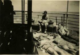 Italy to Blighty S/S Ascania, July 1945