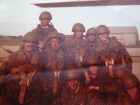 Men of 1 PARA prepare for a parachute drop