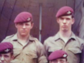 Ptes John McDonald and Jon Crow (right), c1977.