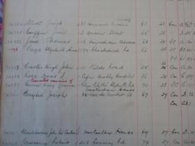 Hugh Carter's entry in the Newport Cemetery Register