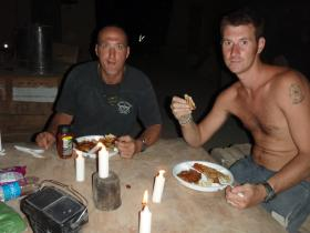 Phil and Stokes Romantic meal Fob Gibraltar