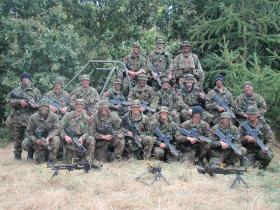 Group photograph of A (Airborne) Troop, 15 AA CS Sqn, Ex Roman Spear, Sept 09