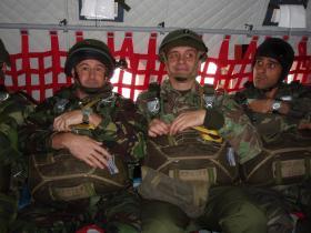 Paul Cavanagh and Harvey Grenville on board a Portuguese Air Force CASA C295, November 2009.