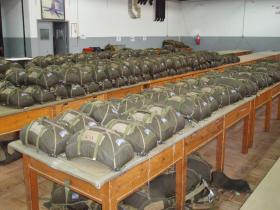 Inside the Packing Hall at the Escola de Tropas Para-Quedistas
