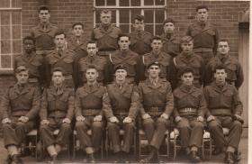 Group photo of P Company recruits, Feb 1961