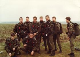 First jumps with GQ360 on Salisbury Plain 1985