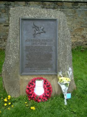 Memorial to the formation of the British Airborne Forces. Hardwick Hall, Derbyshire.