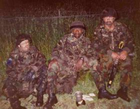 Padre Rog and Kenny Morland on a night exercise, West Frew, 1998