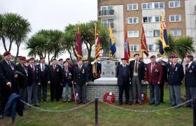 Airborne Veterans at the Paignton Memorial Ceremony, 28 March 2010