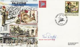 Palestine Commemorative Cover signed by Maj Tom Duffy
