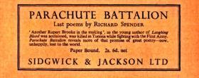 Parachute Battalion Magazine Advert