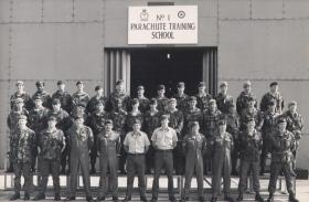 Group photo of Parachute Course at Brize Norton, July 1984