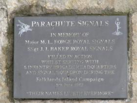 Falklands Campaign Parachute Signals Memorial, Grantham