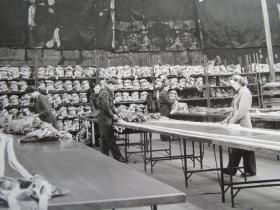 Parachute packing of X-Types during the Second World War