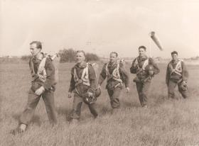 Paras on exercise near Butlins, Skegness, early 1950s