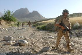 3 PARA on patrol in Zabul, June 2008