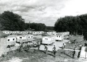 Pegasus Village, built by self-help from 9 Para Sqn RE, Aldershot, 1959