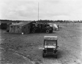 Phantom vehicles in the field on exercise, mid 1940s