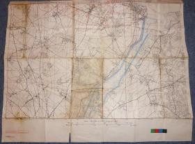 Photo of D-Day training map titled 'Oslo', 1944