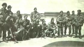 Men of  B Company 8th (Midlands) Parachute Battalion before D-Day, June 1944