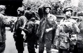 Airborne prisoners after their capture at Arnhem Bridge, September 1944