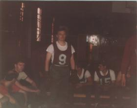 Mark Holding just before milling on P Company, 1983