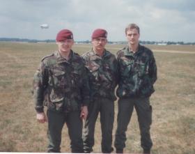 Men of 144 PFA after a first Balloon jump