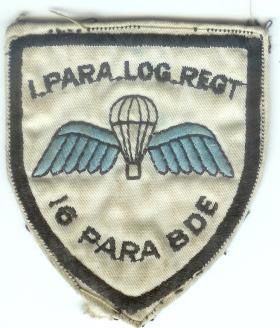 1 Parachute Logistic Regiment Sports team shoulder badge