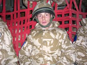 Jason Rawstron in bound to Helmand, Afghanistan, 2008