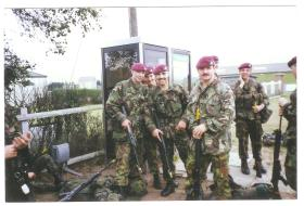Soldiers of 15 Para at Barry Budden camp, c.1989