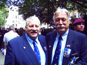 Veterans in London for 25th Anniversary of the Falklands Campaign, 2007