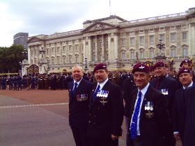 Veterans outside the Palace during the 25th Anniversary of the Falklands Campaign, London, 2007